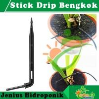 Stick Drip Bengkok, Stik / Stick Dripper, Fertigasi Tetes Hidroponik