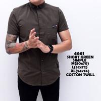 4661 Short Green Simple Kemeja Panjang Pria