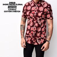 3950 Short Batik Floralaroon Kemeja Batik Pendek Pria