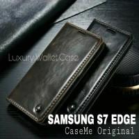 Samsung S7 Edge Leather Case Merk CASEME Premium Wallet Case Samsung