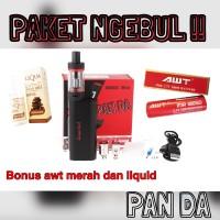 Paket Siap Ngebul Vape KangerTech Subox + Baterai AWT 3000mAh + Liquid
