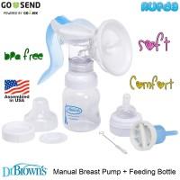 Dr Brown's Manual Breast Pump Pompa ASI Breastpump Browns