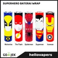 Jual Superhero Battery Wrap Pembungkus Baterai 18650 Murah dan Unik Murah