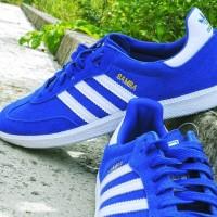 Sepatu adidas originals samba suede bold blue / white