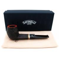 Savinelli Onda Sandblasted 504 (6mm) Pipa Cangklong Briar Tobacco Pipe