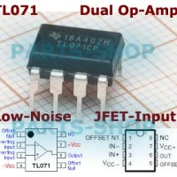 IC TL071 Low-Noise Op-amp JFET-Input TL071CP OpAmp TL 071 DIP-8