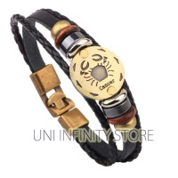 JWLB0177 Cancer Gelang Kulit Rasi Bintang Zodiak Vintage Retro Couple
