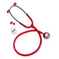 Stethoscope Bayi Stainless Merah OneMed