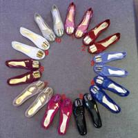 Salvatore Ferragamo Bermuda Jelly Flats Best Mirror Flat Shoes