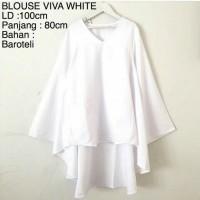 Atasan Blouse Viva White Baju Muslim Blus Muslim Blouse