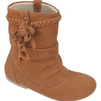014CTA, sepatu boot flat/casual/santai/pesta anak perempuan/cewek