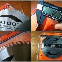 """Mata Potong Gergaji 72T Circular Saw Blade 7"""" Tipis Polos non TCT"""