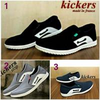 harga Sepatu Kickers Slop Pria Santai Kulit Suede Original Handmade Tokopedia.com