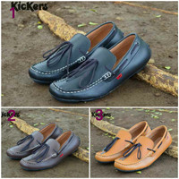 harga Sepatu Kickers Slop Kulit Asli Leather Santai Pra Original Leather Tokopedia.com