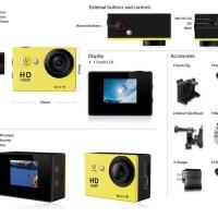 Camera bagus SportCam SJ4000 WIFI Full HD 1080p Waterproof GoPro kille