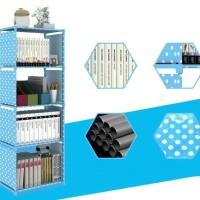 Rak Buku Serbaguna 5 Susun Rak Portable Bookcase Bongkar Pasang