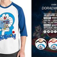 Jual Raglan Doraemon 05 - Tshirt - Baju Kaos Distro Rivrez Murah