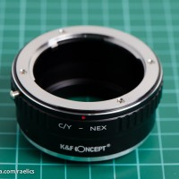 K&F Adapter Contax Yashica CY To Sony Mirrorless (NEX A5000 A6000 A7)