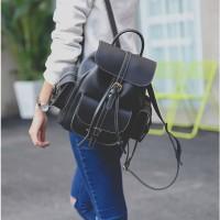 tas ransel wanita fashion import korea 09712 black