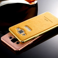SAMSUNG A5/ A 5 2015 EHOLO KULIT CASING ALUMINUM BUMPER LEATHER CASE