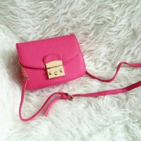 Furla Mini Metropolis [Pink Fuchsia] Tas Dompet Wanita Fossil Zara