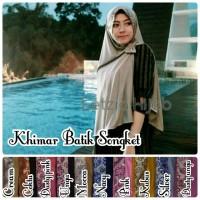 Jual khimar batik songket, jersey, grosir jilbab Murah