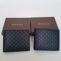gucci leather men wallet
