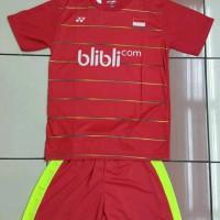 Baju Kaos Badminton Stelan Dewasa Yonex Y.22 Merah