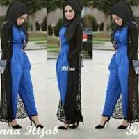 Baju Muslim Hijab Gamis Wanita Jumpsuit Vinna 3in1 MURAH