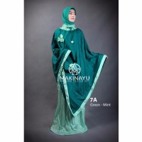 Mukena Parasut Makinayu Green Mint Limited