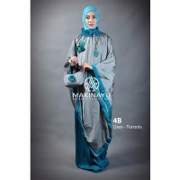 Mukena Travel Makinayu Grey Turqois Murah