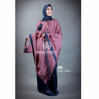 Mukena Travel Makinayu Pink Navy Limited