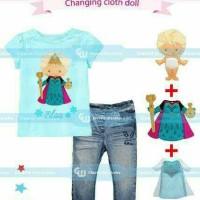 Jual Setelan Princess Elsa Frozen GW252 (Changing Cloth Doll) Murah
