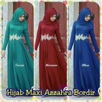Wanita Muslim Baju Hijab Gamis Maxi Azzahra Bordir MURAH