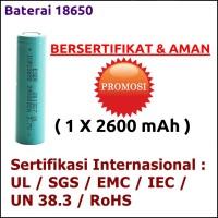 Eser Baterai 18650 Bersertifikat & Aman 2600mAh