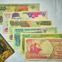 Jual UANG KUNO PAKET SUPER HEMAT SET 92an   UANG 90an   UANG LAMA duit kuno Murah