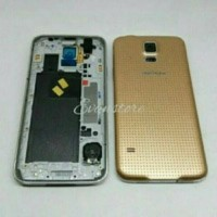 Casing Fullset Samsung S5 Original Hitam Putih