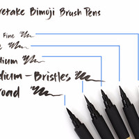 Jual [termurah] Kuretake Bimoji Brush Pen - Fine Murah