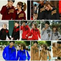 fleece/baju keluarga,jaket couple qing,king coklat
