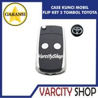 Jual Casing Kunci Lipat Flip Key 2 tombol mobil TOYOTA Innova, Vios, dll Murah