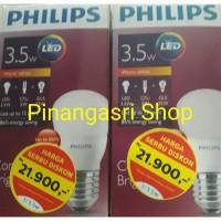 Jual Lampu Bohlam LED Philips warm white/kuning 3.5 watt 3watt 3w 3 w Bulb Murah