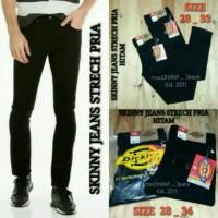 Jual jeans panjang hitam strech dickies / pensil / skinny Murah