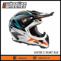 Helm cross Airoh edisi KTM warna biru all size original Jakarta