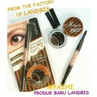 Jual New Landbis / Lanbis Myazhi Eyebrow Gel / Eyeliner Gel + 2 Brush Murah