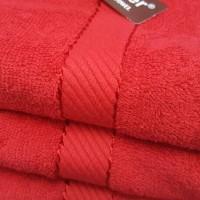 Handuk Chalmer 50 X 100 Warna Merah Handuk Tanggung