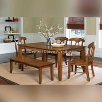 Kursi & Meja Makan Jati Minimalis Klasik 6 Kursi Furniture Asli Jepara