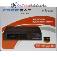 Receiver Parabola DVB-S2 Dan Set Top Box DVB-T2 Freesat V7 Combo