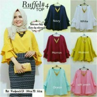 Baju Atasan Wanits / Blouse Blus / Ruffel Top