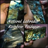 BAHAN ROUGH NATURAL BATU AKIK LABRADOR RAINBOW FELDSPAR (LABRA PG