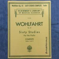 Wohlfahrt 60 Studies Op. 45 Complete SCHIRMER Violin